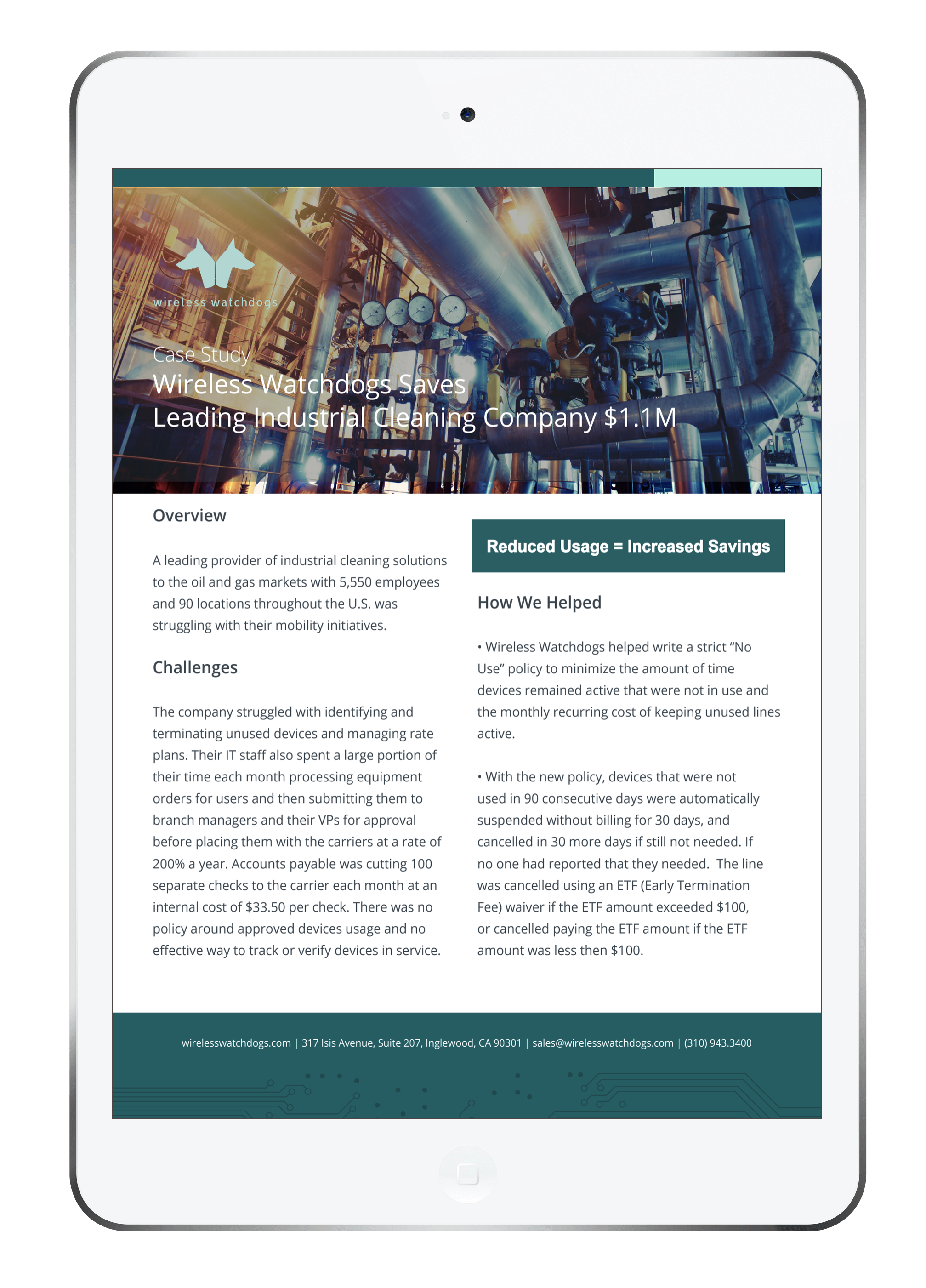 Oil & Gas MMS Savings Case Study Cover